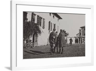 Campagna Di Guerra 1915-1916-1917-1918: Soldiers During the Battle of the Tagliamento--Framed Photographic Print