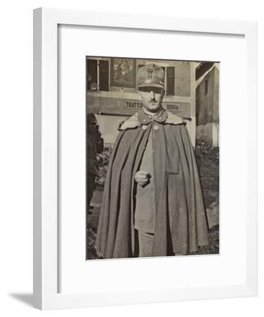 Portrait of Italian Soldiers on the Square of Cinte--Framed Photographic Print
