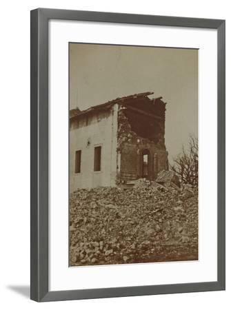 Rubble of a Bombed Farm--Framed Photographic Print