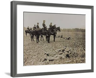 World War I: The British King George V (1865-1936) on Horseback During Military Operations--Framed Photographic Print