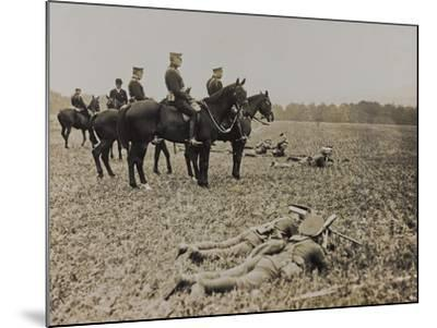 World War I: The British King George V (1865-1936) on Horseback During Military Operations--Mounted Photographic Print