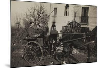 War Campaign 1917-1920: Soldiers Aboard a Horse-Drawn Carriage to Cavrie--Mounted Photographic Print