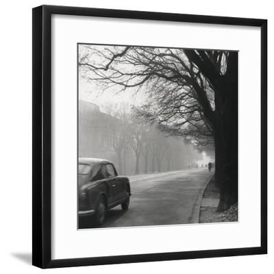 Cars on the Avenues with Fog-Renzo Ferrini-Framed Photographic Print