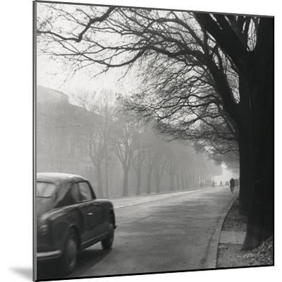 Cars on the Avenues with Fog-Renzo Ferrini-Mounted Photographic Print