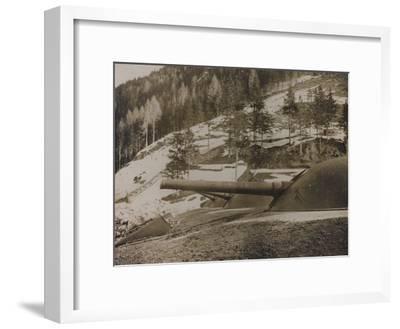 World War I: Cupole Corazzate Di 149--Framed Photographic Print