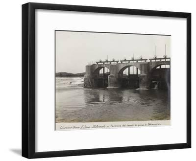 Leadership Corps of Engineers 2nd Area 3rd Army, Divider Channel Outlet Straussina Near Sagrado--Framed Photographic Print