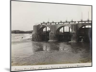 Leadership Corps of Engineers 2nd Area 3rd Army, Divider Channel Outlet Straussina Near Sagrado--Mounted Photographic Print