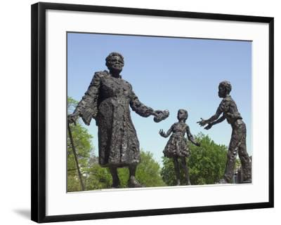 Statue of Mary Mcleod Bethune and African-American Children, Lincoln Park, Washington DC--Framed Photographic Print