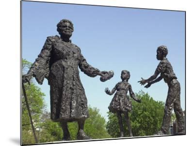 Statue of Mary Mcleod Bethune and African-American Children, Lincoln Park, Washington DC--Mounted Photographic Print