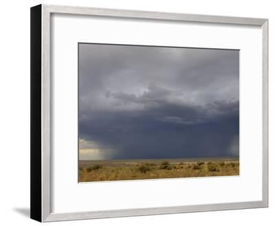 Rainstorm over the Arid Plains of the Four Corners Area, New Mexico--Framed Photographic Print