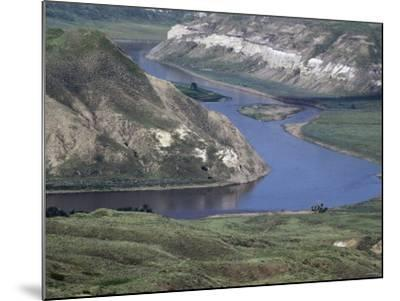Missouri River in the White Cliffs Backcountry, Described by Lewis and Clark--Mounted Photographic Print