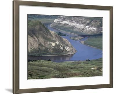 Missouri River in the White Cliffs Backcountry, Described by Lewis and Clark--Framed Photographic Print