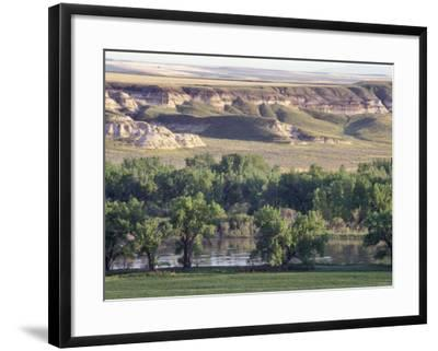 Missouri River at Coalbanks Landing, a Lewis and Clark Campsite in Montana--Framed Photographic Print