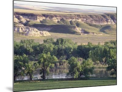 Missouri River at Coalbanks Landing, a Lewis and Clark Campsite in Montana--Mounted Photographic Print
