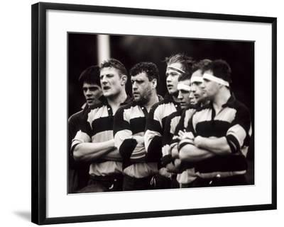 Men's Rugby Team Lined Up Prior to a Game, Paris, France--Framed Photographic Print