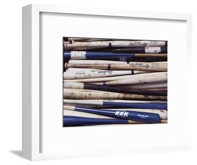 Baseball Bats-Paul Sutton-Framed Photographic Print