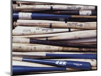 Baseball Bats-Paul Sutton-Mounted Photographic Print