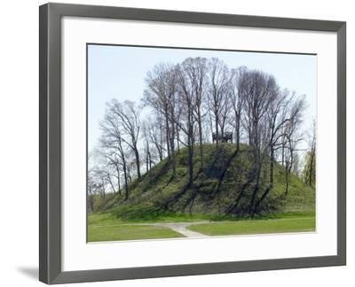 Saul's Mound, 72 Feet High, Largest Middle Woodland Mound Group in the U.S., Tennessee--Framed Photographic Print