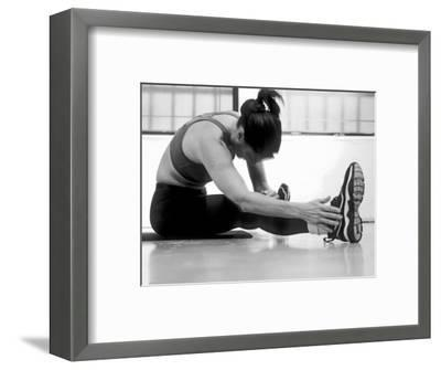 Women Stretching During Exercise Session, New York, New York, USA-Paul Sutton-Framed Photographic Print