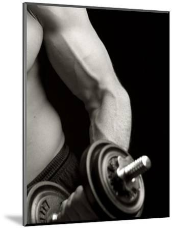 Man Working Out with Hand Wieghts, New York, New York, USA-Chris Trotman-Mounted Photographic Print