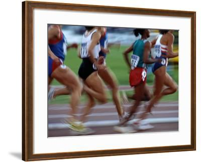 Womens Track And Field Race Photographic Print By Paul Sutton Artcom