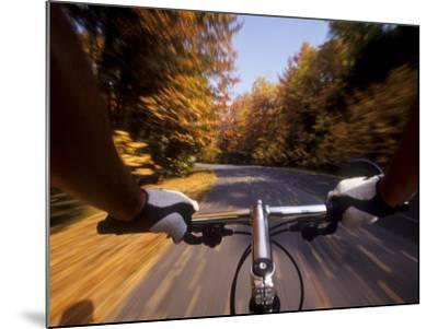 Detail of Cyclist View while Riding on the Roads--Mounted Photographic Print