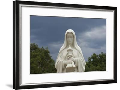 Saint Clare Statue, St. Francis of Assisi Churchyard, Ranchos De Taos, New Mexico--Framed Photographic Print