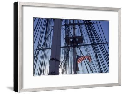 USS Constitution's Masts and Rigging, Boston--Framed Photographic Print