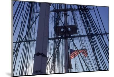 USS Constitution's Masts and Rigging, Boston--Mounted Photographic Print