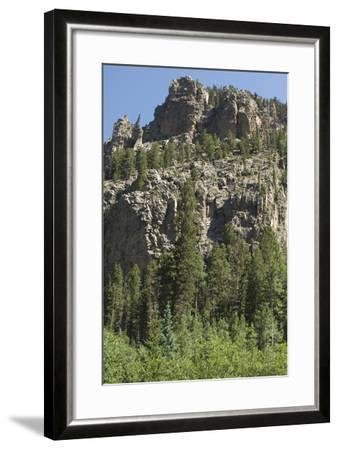 Cliff Along the Trampas Lakes Trail in the Pecos Wilderness, Sangre De Cristo Mountains--Framed Photographic Print