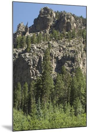 Cliff Along the Trampas Lakes Trail in the Pecos Wilderness, Sangre De Cristo Mountains--Mounted Photographic Print