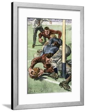 Touchdown Scored in a College Football Game, Early 1900s--Framed Photographic Print
