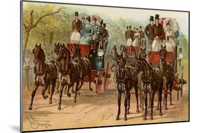 Coaches and Horse Teams of Upperclass Londoners, 1880s--Mounted Photographic Print