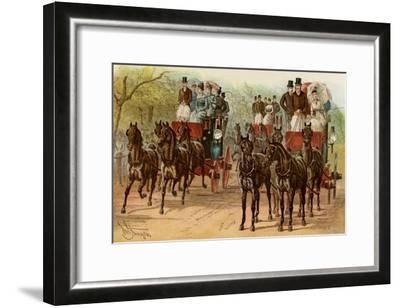 Coaches and Horse Teams of Upperclass Londoners, 1880s--Framed Photographic Print