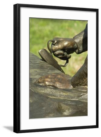 Statue of a Freed Slave Woman Ironing at Union Army's Contraband Camp in Corinth MS, 1862-1864--Framed Photographic Print