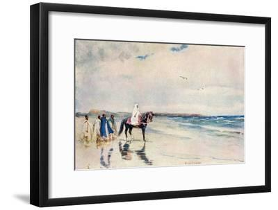 Sultan Mulai Abd-Ul-Aziz on the West Shore of Morocco, Circa 1900--Framed Photographic Print