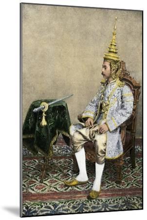 Rama V (Chulalongkorn), King of Siam, in His Royal Attire, Circa 1900--Mounted Photographic Print