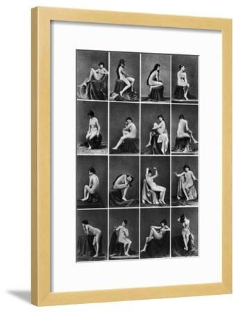 Nude Posing, C1875--Framed Photographic Print