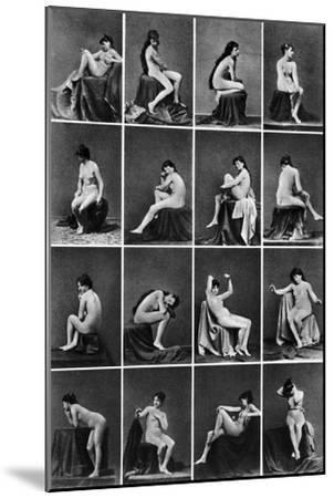 Nude Posing, C1875--Mounted Photographic Print