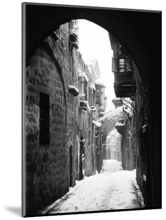 Jerusalem: Winter--Mounted Photographic Print