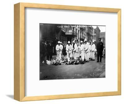 Street Sweepers, 1911--Framed Photographic Print