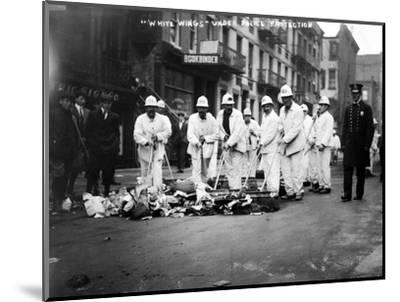 Street Sweepers, 1911--Mounted Photographic Print