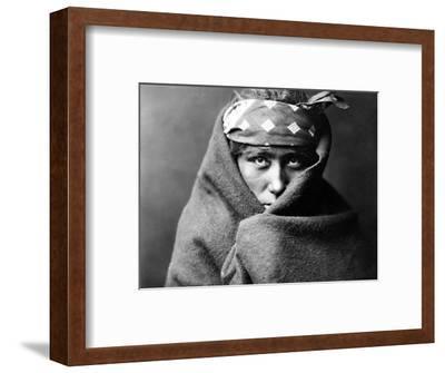 Navajo Boy, C1904-Edward S^ Curtis-Framed Photographic Print