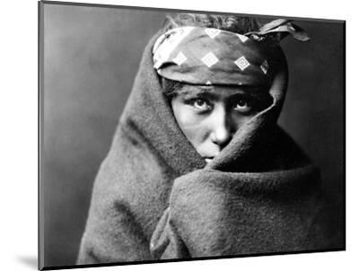 Navajo Boy, C1904-Edward S^ Curtis-Mounted Photographic Print