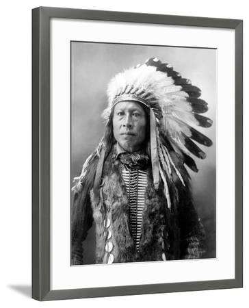 Sioux Brave, C1900-John Alvin Anderson-Framed Photographic Print