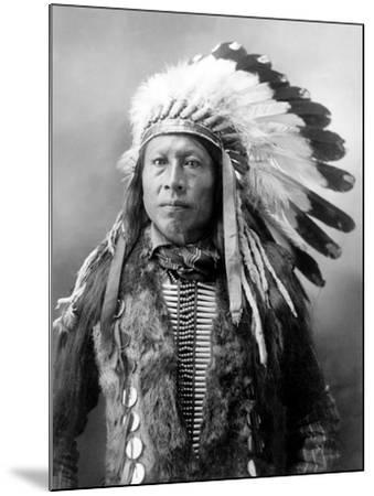 Sioux Brave, C1900-John Alvin Anderson-Mounted Photographic Print