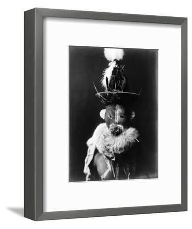 Navajo Mask, C1905-Edward S^ Curtis-Framed Photographic Print