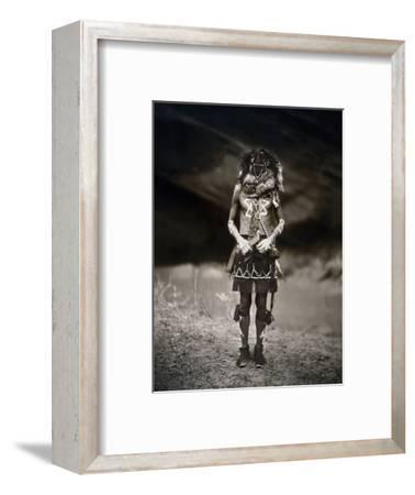 Navajo Ritual, C1904-Edward S^ Curtis-Framed Photographic Print