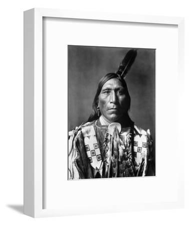 Sioux Man, C1907-Edward S^ Curtis-Framed Photographic Print