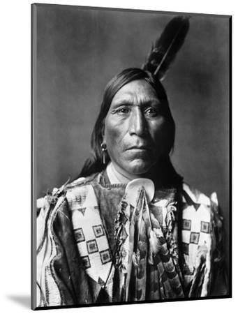 Sioux Man, C1907-Edward S^ Curtis-Mounted Photographic Print
